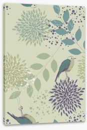 Leaves and birds Stretched Canvas 58594810
