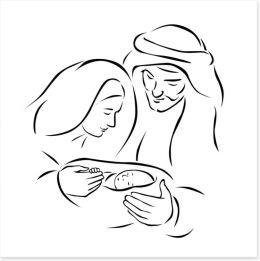 Nativity with holy family