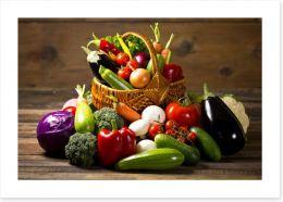 Vegetables in the basket Art Print 59025160