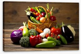 Vegetables in the basket Stretched Canvas 59025160
