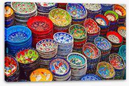 Rainbow ceramics Stretched Canvas 59166270