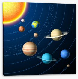 Rockets and Robots Stretched Canvas 59206454