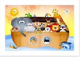 All aboard Noah's ark Art Print 59219598