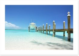 Yacht at the jetty Art Print 59258990