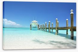 Yacht at the jetty Stretched Canvas 59258990