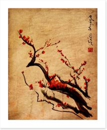 Sakura Chinese painting Art Print 59336817