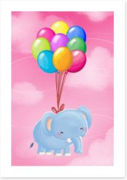 Floating balloon elephant