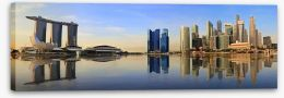Singapore panorama skyline Stretched Canvas 59624049
