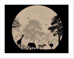 Moonlight safari Art Print 59750045