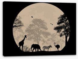 Moonlight safari Stretched Canvas 59750045