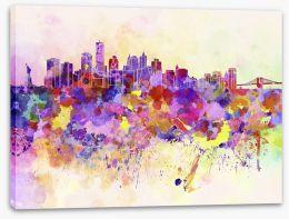 New York City skyline watercolor