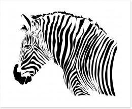 Zebra stripes Art Print 60040014