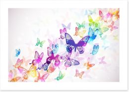 Butterfly rainbow Art Print 60051667