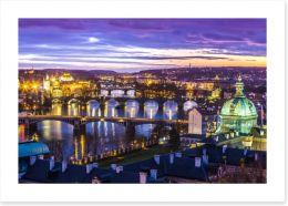 The bridges of Prague Art Print 60177451