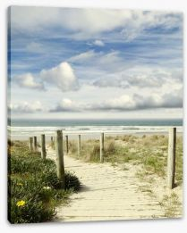 Path to the ocean Stretched Canvas 60222885