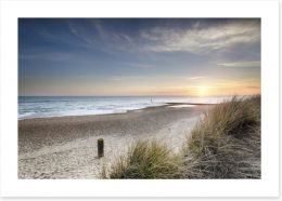Sunset over the dunes Art Print 60352873