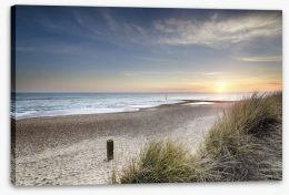 Sunset over the dunes Stretched Canvas 60352873