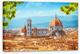 Florence rooftops Stretched Canvas 60467418