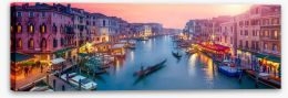 Venice sunset panoramic Stretched Canvas 60468117