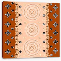 Aboriginal Art Stretched Canvas 60478653