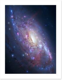 Deep space spiral galaxy Art Print 60618261