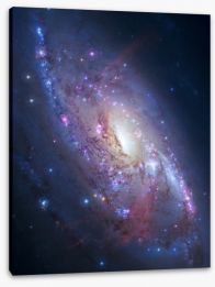 Deep space spiral galaxy Stretched Canvas 60618261