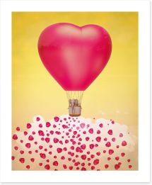 Heart balloon stardust
