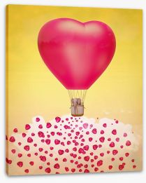 Heart balloon stardust Stretched Canvas 60630606
