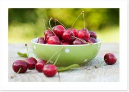 Summer cherries Art Print 60749867