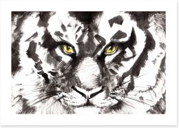 Eyes of a tiger Art Print 60851248
