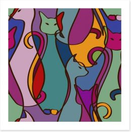 Cubism cats Art Print 60905189