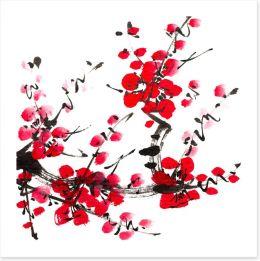 Plum blossom Art Print 60939448