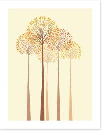 Autumn trees Art Print 61121267