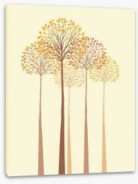 Autumn trees Stretched Canvas 61121267