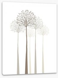 Elegant trees on white Stretched Canvas 61121269