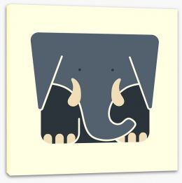 Cube elephant Stretched Canvas 61152087