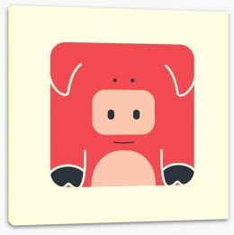Cube pig Stretched Canvas 61152096