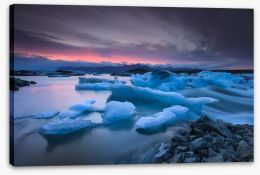Icebergs floating in Jokulsarlon glacier lake Stretched Canvas 61153121