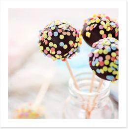 Schoko Cake Pops Art Print 61198052