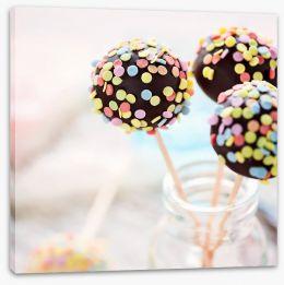 Schoko Cake Pops Stretched Canvas 61198052