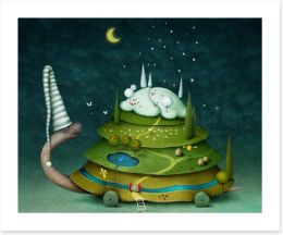 Sleeping fairy turtle