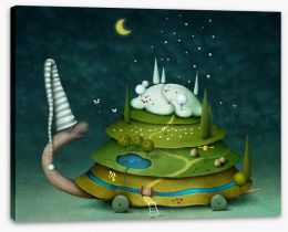 Sleeping fairy turtle Stretched Canvas 61257201