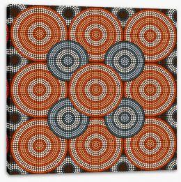 Aboriginal Art Stretched Canvas 61375650