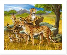 Cheetah safari Art Print 61522218