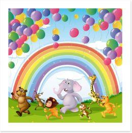 The rainbow race Art Print 61529801
