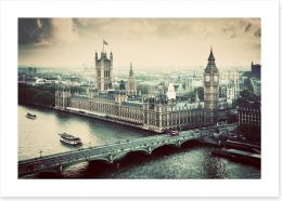 Vintage views of London Art Print 61554764