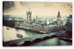 Vintage views of London Stretched Canvas 61554764