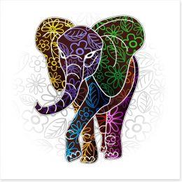 Elephant batik Art Print 61585985