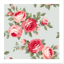 Vintage style rose wallpaper