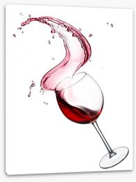A splash of wine Stretched Canvas 61654497